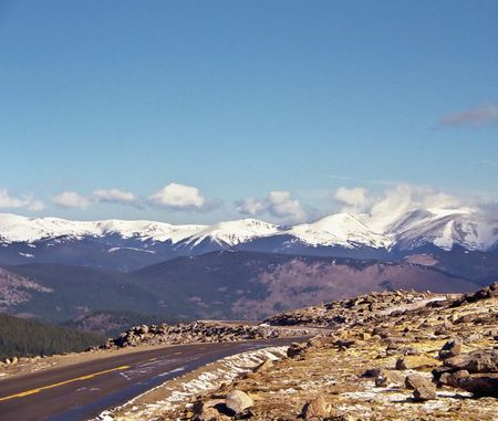 Rocky Mountain National Park features majestic mountain views, a variety of wildlife, varied climates and environments�from wooded forests to mountain tundra�and easy access to back-country trails and campsites. The park is located north-west of Boulder,  photo