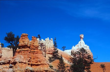 Bryce Canyon National Park is a national park located in southwestern Utah in the United States. Contained within the park is Bryce Canyon. Despite its name, this is not actually a canyon, but rather a giant natural amphitheater created by erosion along t Stock Photo - 2897580