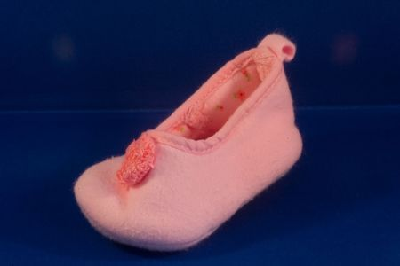 expected: Pink  shoes for a girl Stock Photo