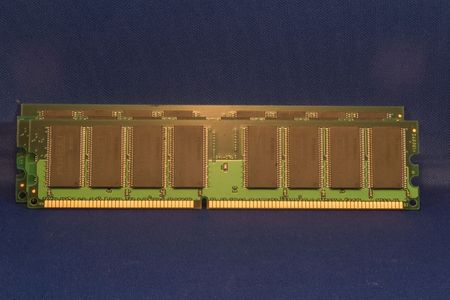 A SIMM, or single in-line memory module photo