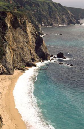 julia pfeiffer burns: Pacific Coastline in Big Sur, California