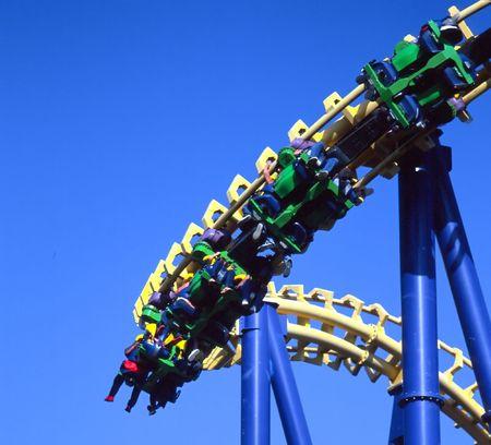 Great America amusement park in Santa Clara, California. Banco de Imagens