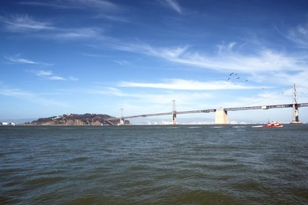 great bay: The Port of San Francisco lies on the western edge of the San Francisco Bay at the Golden Gate. It has been called one of the three great natural harbors in the world Stock Photo