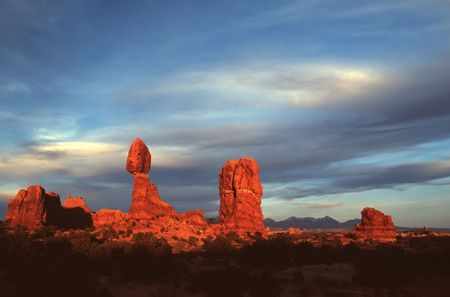 Arches National Park preserves over 2,000 natural sandstone arches, including the world-famous Delicate Arch, in addition to a variety of unique geological resources and formations. Stock Photo - 2983504