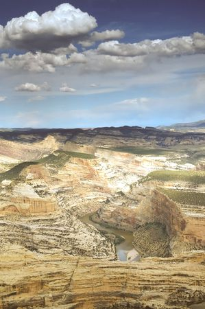 Dinosaur National Monument is a U.S. National Monument located on the southeast flank of the Uinta Mountains on the border between the American states of Colorado and Utah at the confluence of the Green and Yampa Rivers.