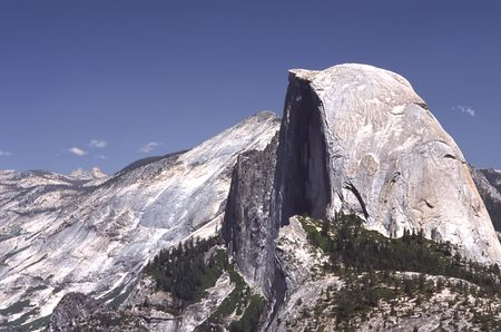 Olmsted Point, located in Yosemite National Park, is a viewing area like Glacier Point that offers an amazing view looking South-West into Yosemite. One is able to see the back side of Half Dome (where people climb the cables) and Tenaya Canyon. To the ea photo