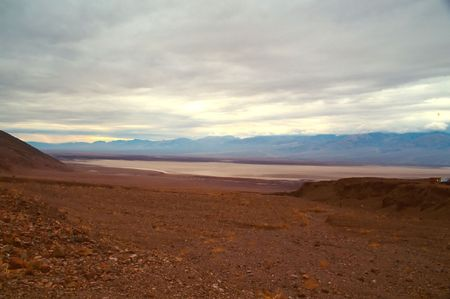 hottest: Death Valley is the lowest, driest and hottest valley in the United states. It is the location of the lowest elevation in North America Stock Photo