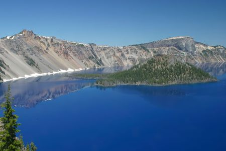 Crater Lake National Park in Oregon, USA photo