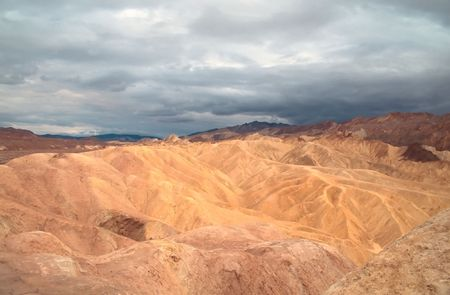 Zabriskie Point is a part of Amargosa Range located in Death Valley National Park in the United States noted for its erosional landscape. Stock Photo - 3055245