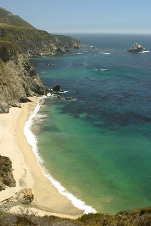 steinbeck: Pacific Ocean coast in Big Sur, California