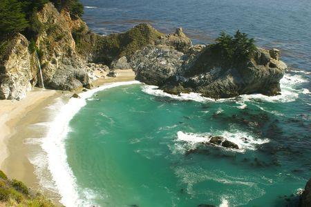 Pacific Ocean coast in Big Sur, California photo