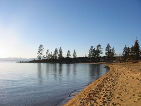 south lake tahoe: Sunset in South Lake Tahoe, Nevada Stock Photo