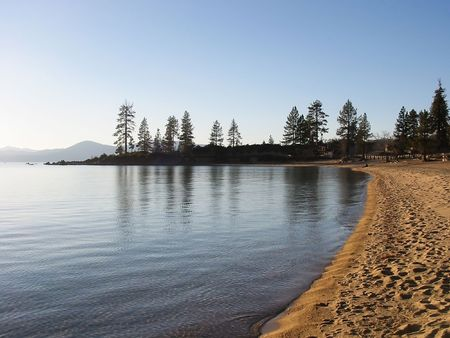Sunset in South Lake Tahoe, Nevada Stock Photo