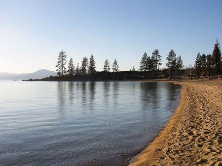 tahoe: Sunset in South Lake Tahoe, Nevada Stock Photo