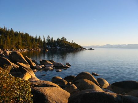 carson city: Sunset in South Lake Tahoe, Nevada Stock Photo