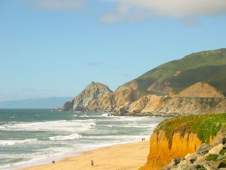 Pacific Ocean coast in Big Sur, California photo