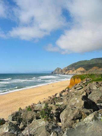 big sur: Pacific Ocean coast in Big Sur, California