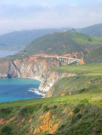 Pacific Ocean coast in Big Sur, California
