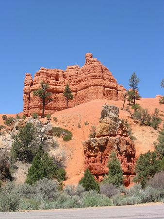 zion: Red Canyon near Zion NP in Utah Stock Photo
