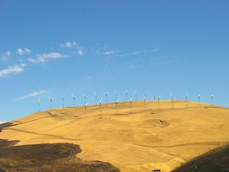 Widmills on Altamont Pass in California
