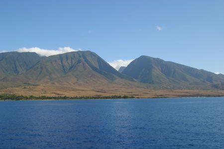 dormant: The island of Maui is the second-largest of the Hawaiian Islands
