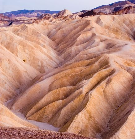 noted: Zabriskie Point is a part of Amargosa Range located in Death Valley National Park in the United States noted for its erosional landscape.