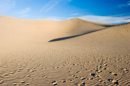 Sand dunes in Death Valley National Park near Stovepipe Wells. photo