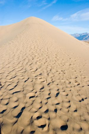 near death: Sand dunes in Death Valley National Park near Stovepipe Wells.