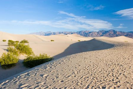 Sand dunes in Death Valley National Park near Stovepipe Wells.