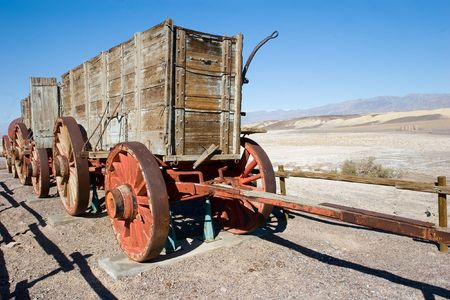 borax: Twenty mule teams were teams of eighteen mules and two horses attached to large wagons that ferried borax out of Death Valley from 1883 to 1889.