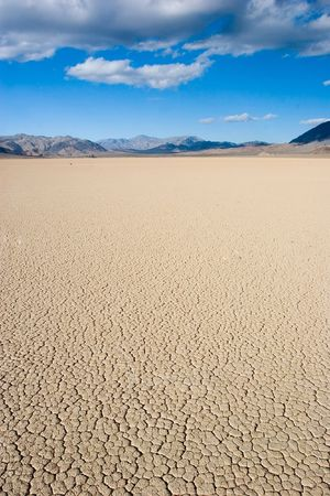 Racetrack Playa is a seasonally dry lake (a playa) located in the northern part of the Panamint Mountains in Death Valley National Park, California. photo