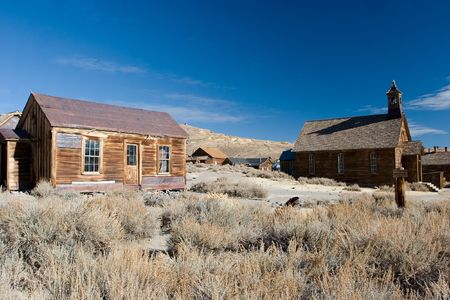deteriorate: Bodie, California is a ghost town east of the Sierra Nevada mountain range in Mono County, California
