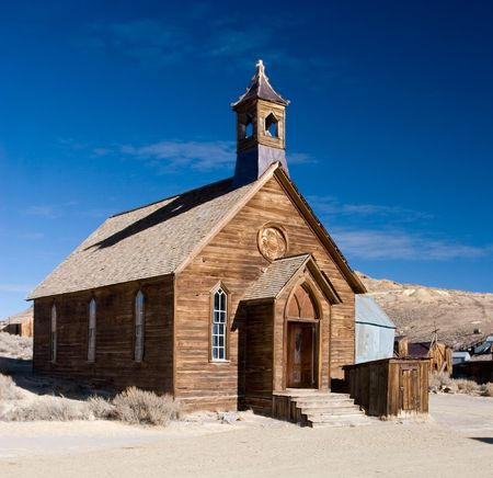 Bodie, Californië is een spookstad oosten van de Sierra Nevada bergketen in Mono County, Californië