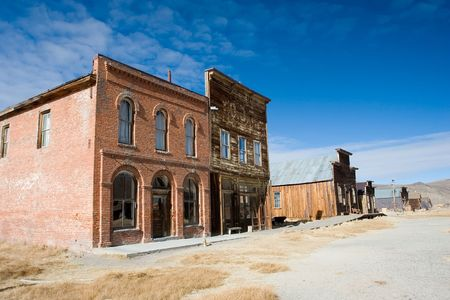 Bodie, California is a ghost town east of the Sierra Nevada mountain range in Mono County, California