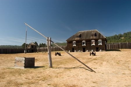 Fort Ross is a former Russian settlement in what is now Sonoma County, California Stock Photo - 3136793