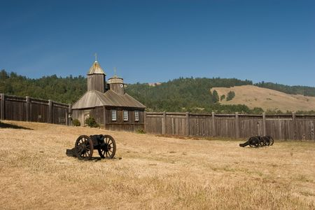 Fort Ross is a former Russian settlement in what is now Sonoma County, California photo
