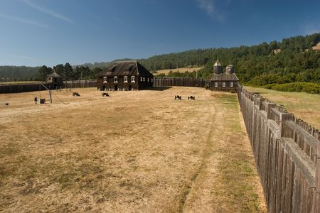 settler: Fort Ross is a former Russian settlement in what is now Sonoma County, California Stock Photo