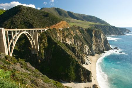 Bir Sur coastline in California photo