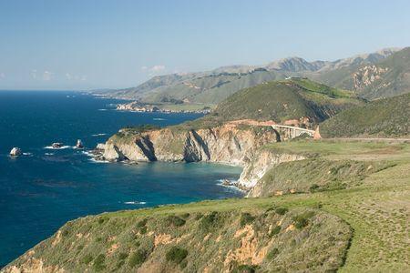 bir: Bir Sur coastline in California