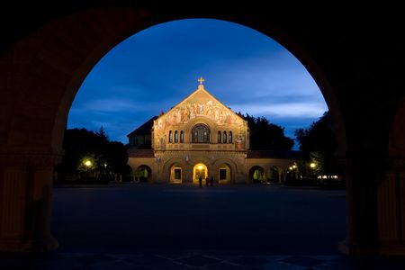 simply: Leland Stanford Junior University, commonly known as Stanford University or simply Stanford, is a highly selective and well regarded private university located approximately 37 miles (60 kilometers) southeast of San Francisco Stock Photo