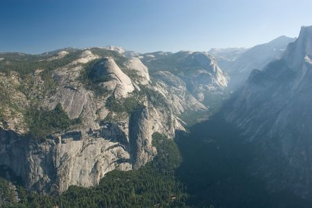 ponderosa pine: Glacier Point is a viewpoint above Yosemite Valley, in California