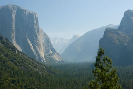 Tunnel View, within Yosemite National Park, is a viewpoint on State Route 41 located directly east of the Wawona Tunnel as one enters Yosemite Valley from the South photo