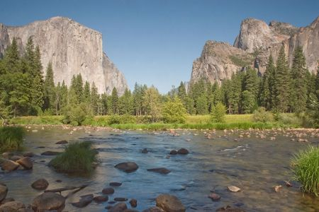 Merced River at Valley View - Yosemite National Park, California photo