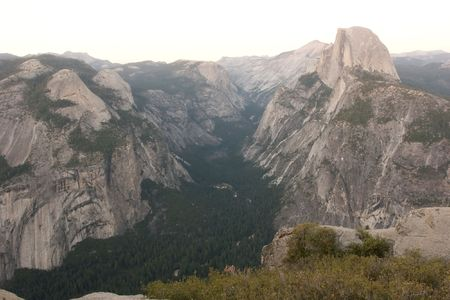 Glacier Point is a viewpoint above Yosemite Valley, in California, USA. It is located on the south wall of Yosemite Valley photo
