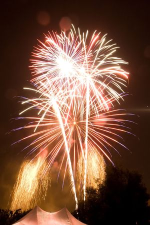 4th of July fireworks over San Jose, California
