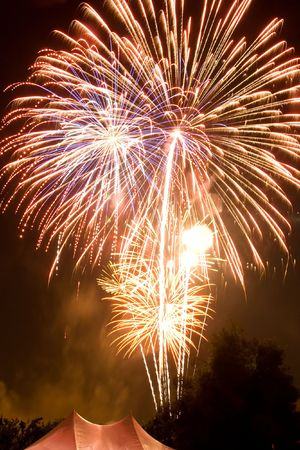 4th of July fireworks over San Jose, California photo
