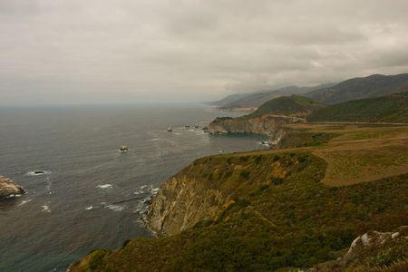 julia pfeiffer burns: Pacific Coast in Big Sur, California