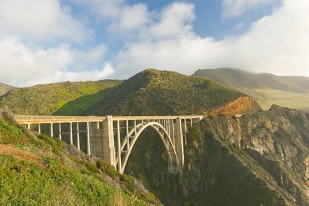 Big Sur near Bixby Bridge in California Stock Photo