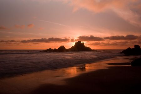 sur: Pfeiffer Beach SP in Big Sur, California Stock Photo