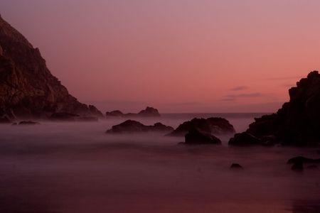 Pfeiffer Beach SP in Big Sur, California Banco de Imagens
